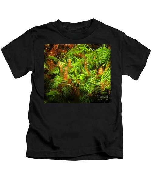 Cypress Knees In Ferns Kids T-Shirt