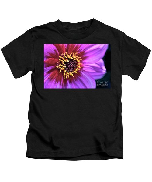 Dahlia Flower Portrait Kids T-Shirt
