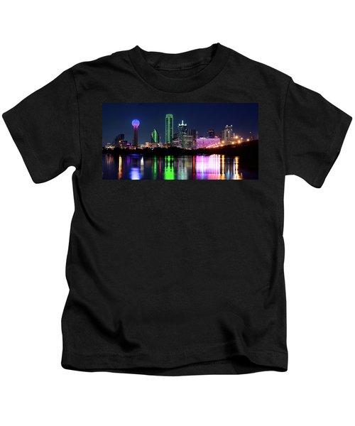 Dallas Colorful Night 52716 Kids T-Shirt