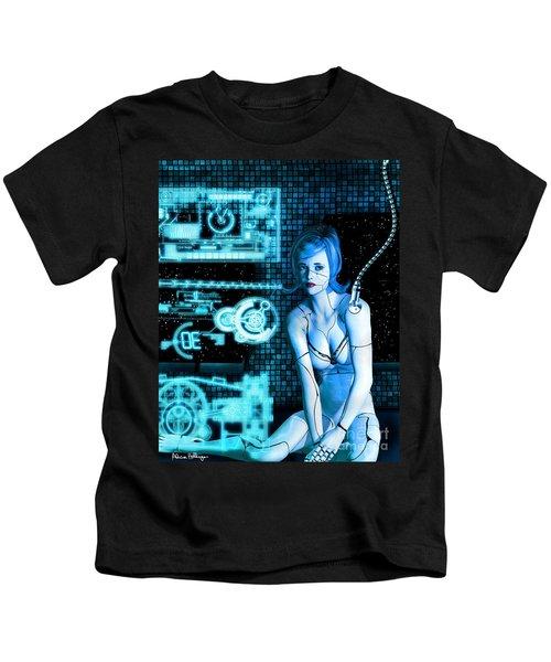 Damaged Cyborg Kids T-Shirt