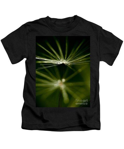 Dandelion Flower With Water Drops  Kids T-Shirt