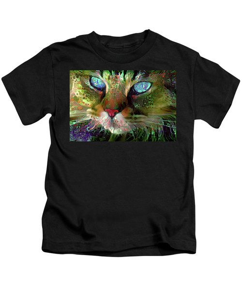 Darby The Long Haired Cat Kids T-Shirt