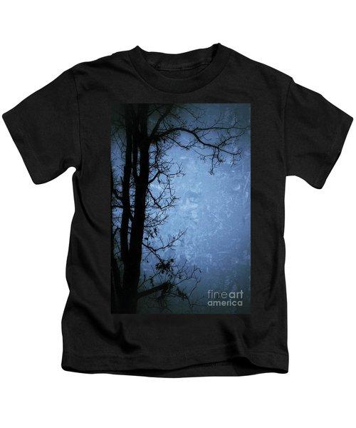 Dark Tree Silhouette  Kids T-Shirt