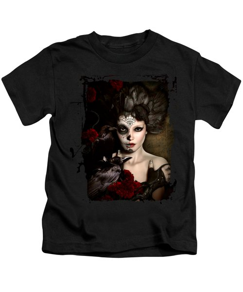 Darkside Sugar Doll Kids T-Shirt by Shanina Conway