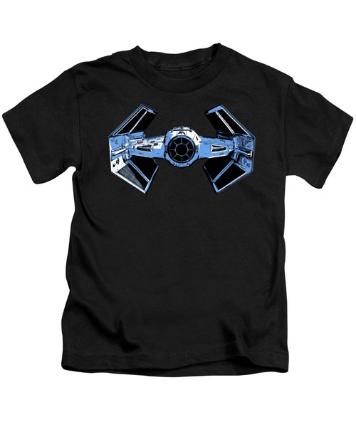 Darth Vaders Tie Figher Advanced X1 Tee Kids T-Shirt by Edward Fielding