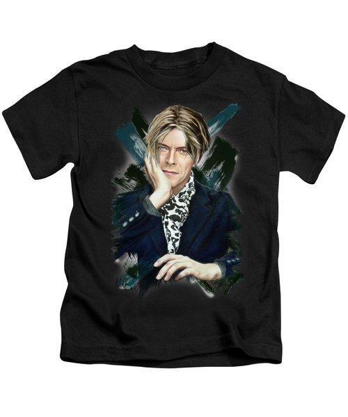 David Bowie Kids T-Shirt by Melanie D