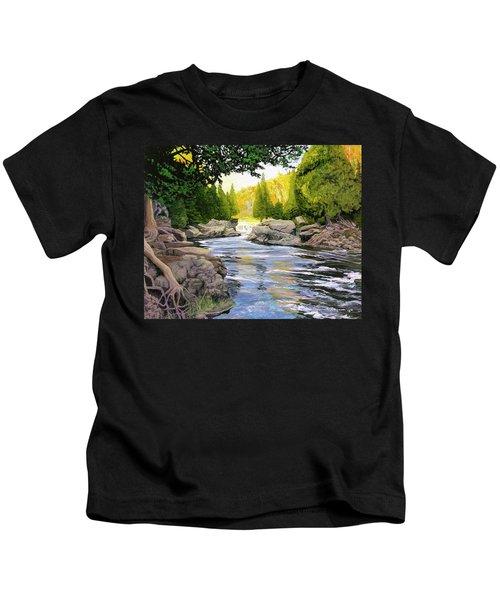 Dawn On The River Kids T-Shirt