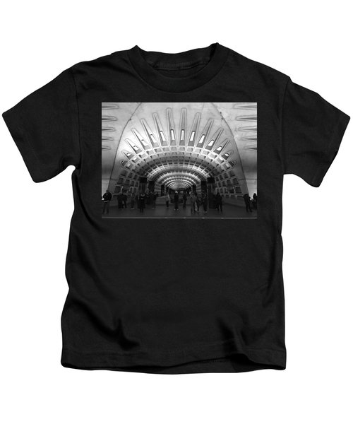 Kids T-Shirt featuring the photograph D.c. Metro by Chris Montcalmo
