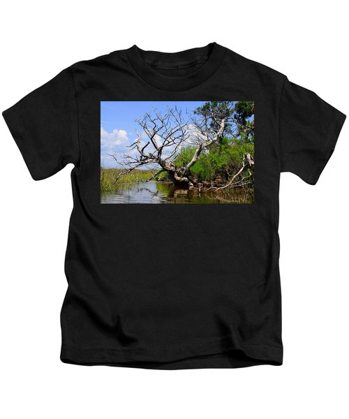 Dead Cedar Tree In Waccasassa Preserve Kids T-Shirt