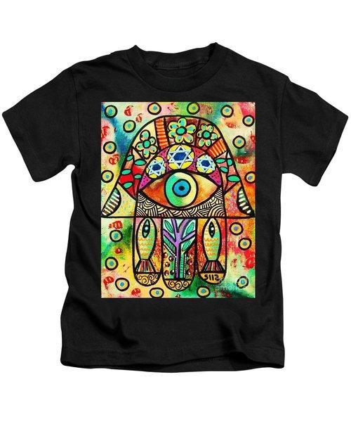 Dead Sea Fish Hamsa Kids T-Shirt