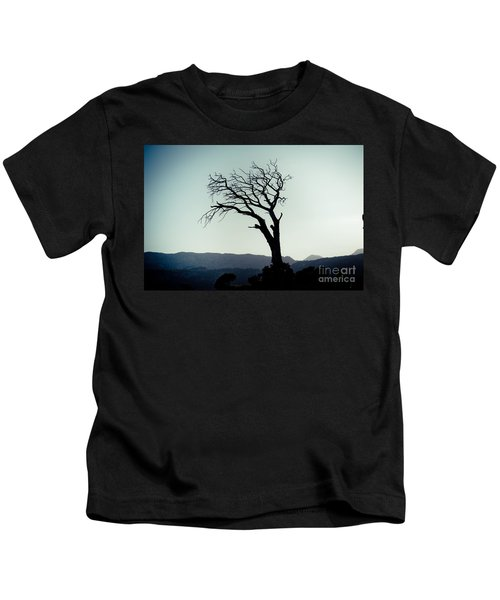 Dead Tree At The Sky Kids T-Shirt