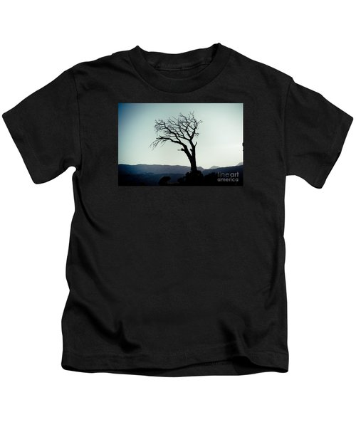 Dead Tree At The Sky Kids T-Shirt