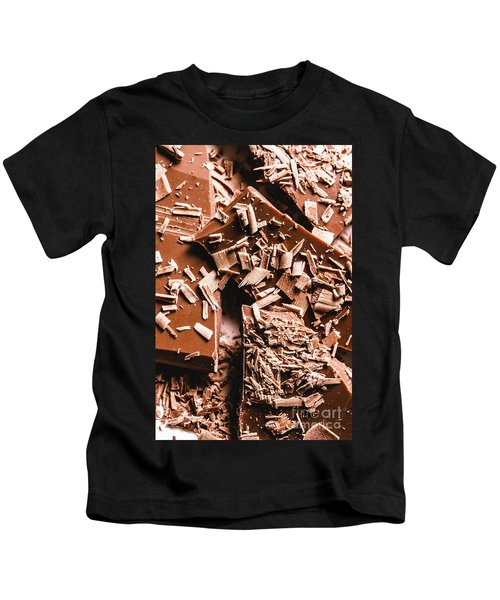 Decadent Chocolate Background Texture Kids T-Shirt