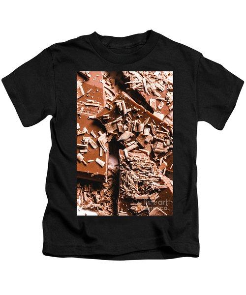Decadent Chocolate Background Texture Kids T-Shirt