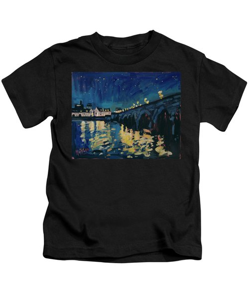 December Lights At The Old Bridge Kids T-Shirt