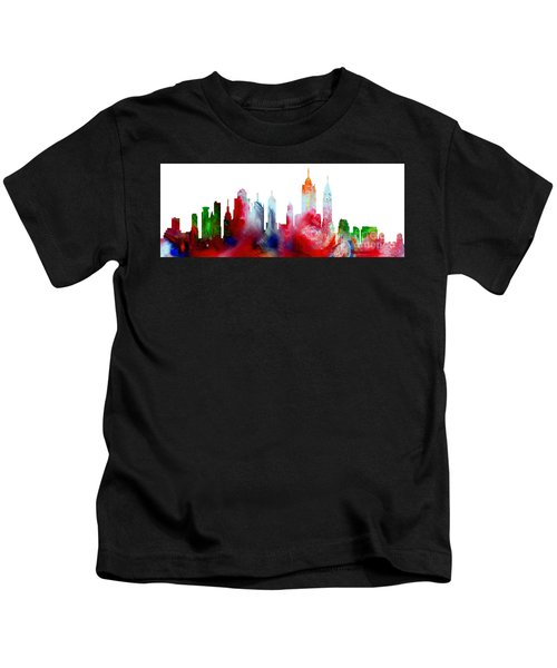 Decorative Skyline Abstract New York P1015c Kids T-Shirt