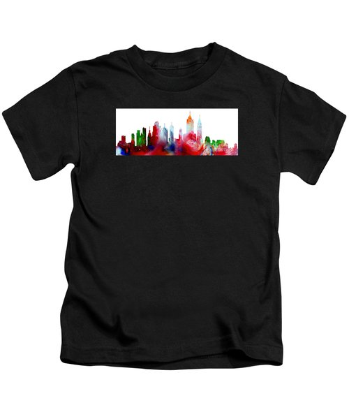 Decorative Skyline Abstract New York P1015c Kids T-Shirt