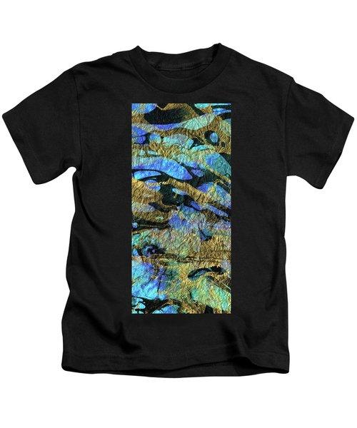 Deep Blue Abstract Art - Deeper Visions 1 - Sharon Cummings Kids T-Shirt