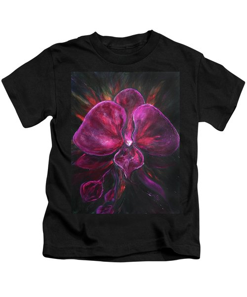 Deep Purple Orchid Kids T-Shirt