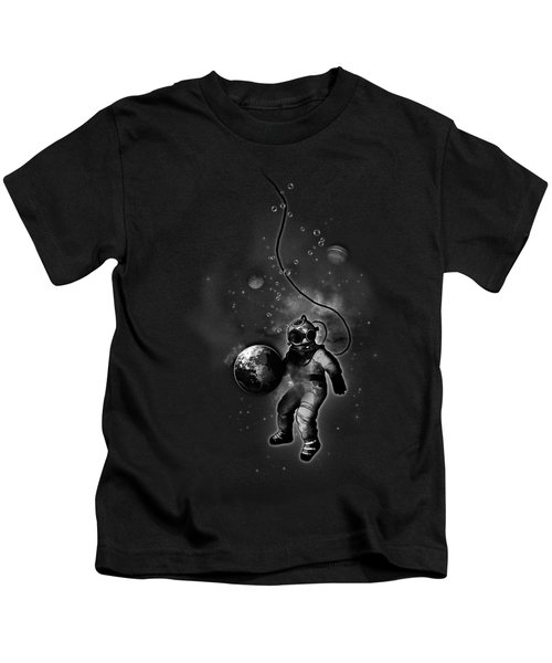 Deep Sea Space Diver Kids T-Shirt by Nicklas Gustafsson