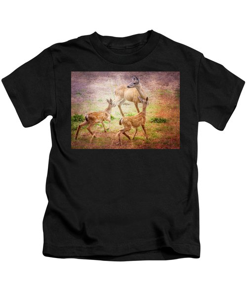 Deer On Vancouver Island Kids T-Shirt