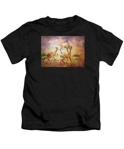 Deer On Vancouver Island Kids T-Shirt