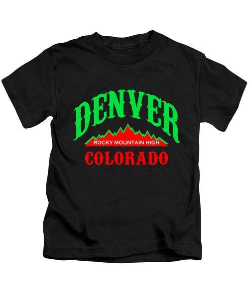Denver Colorado Rocky Mountain Design Kids T-Shirt