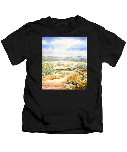 Desert Landscape Watercolor Kids T-Shirt
