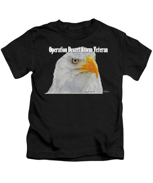 Desert Storm Eagle Kids T-Shirt