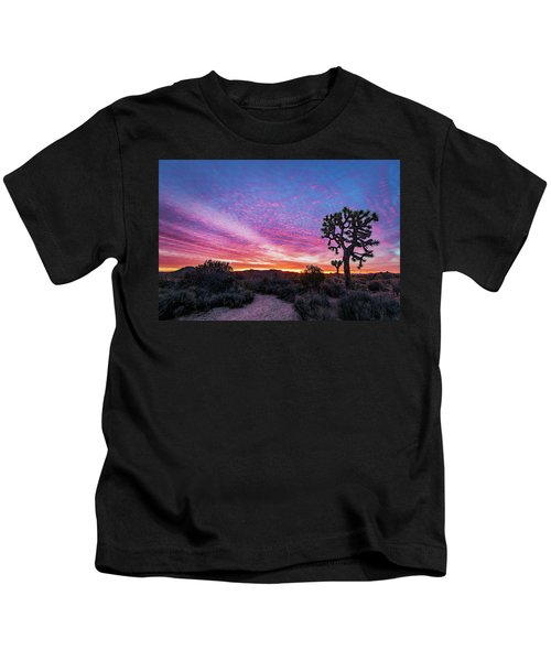 Desert Sunrise At Joshua Tree Kids T-Shirt