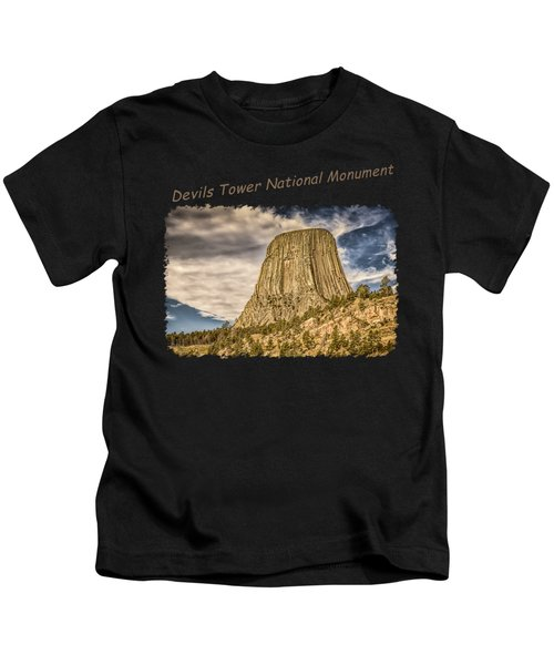Devils Tower Inspiration 2 Kids T-Shirt