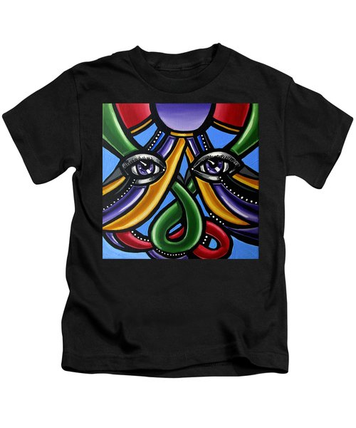 Colorful Eye Art Paintings Abstract Eye Painting Chromatic Artwork Kids T-Shirt