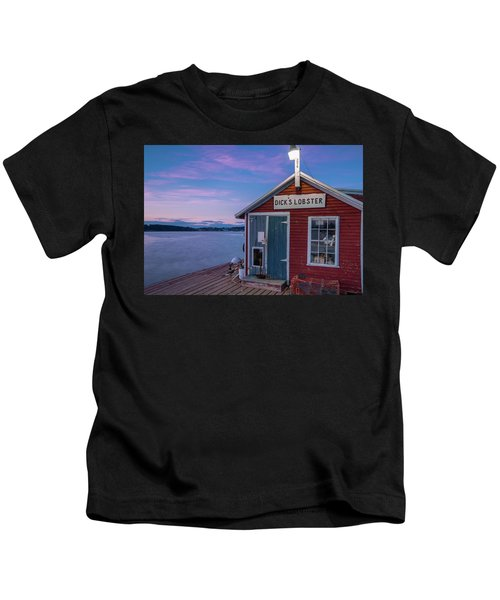 Dicks Lobsters - Crabs Shack In Maine Kids T-Shirt