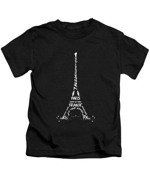 Digital-art Eiffel Tower - Panoramic Kids T-Shirt
