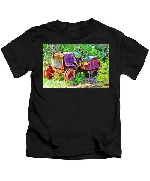 Dilapidated Tractor Kids T-Shirt