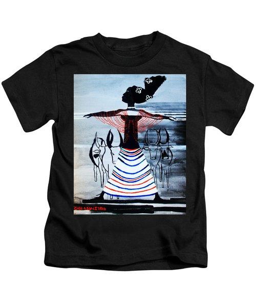 Dinka Corset - South Sudan Kids T-Shirt