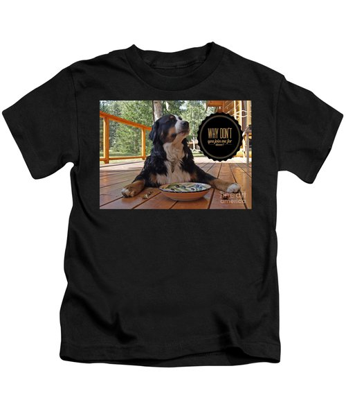 Dinner With My Dog Kids T-Shirt