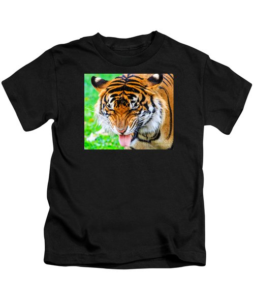 Disgusted Tiger Kids T-Shirt