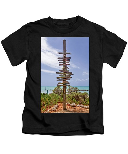Distance From Key West Kids T-Shirt