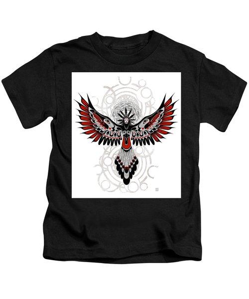 Divine Crow Woman Kids T-Shirt