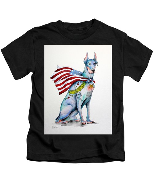 Doberman Napolean Kids T-Shirt