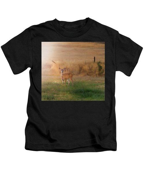 Doe At Sunset Kids T-Shirt