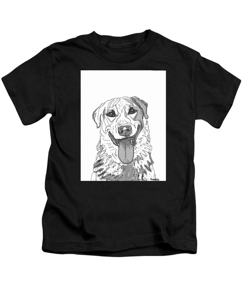 Dog Sketch In Charcoal 2 Kids T-Shirt