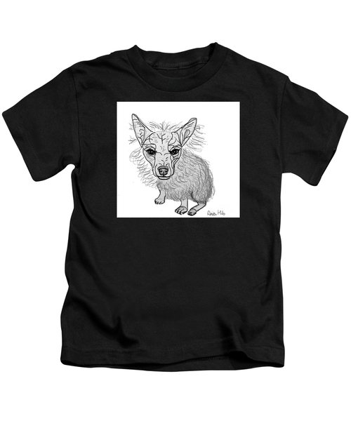 Dog Sketch In Charcoal 3 Kids T-Shirt