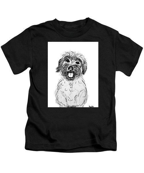 Dog Sketch In Charcoal 6 Kids T-Shirt