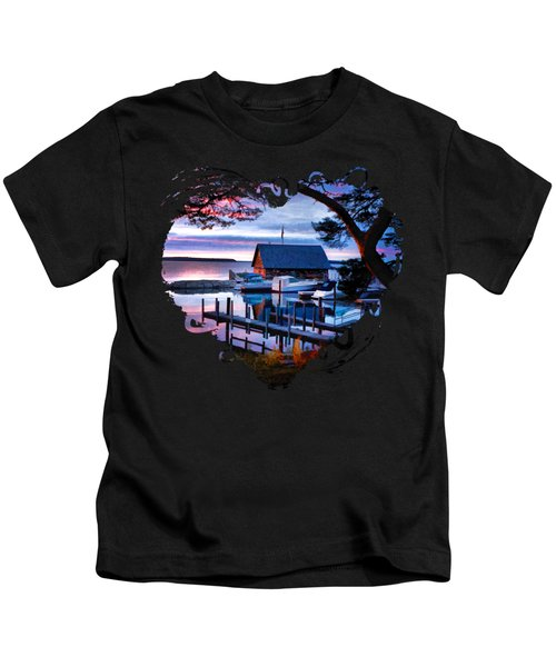 Door County Anderson Dock Sunset Kids T-Shirt