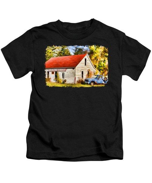 Door County Gus Klenke Garage Kids T-Shirt