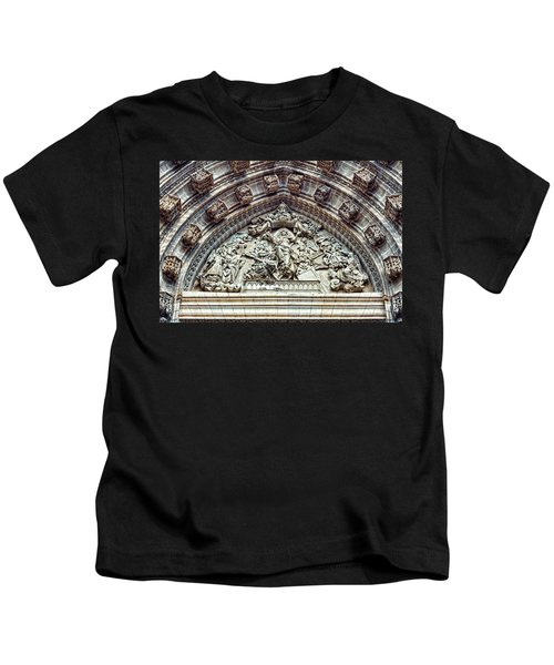 Door Of Assumption - Detail, Seville Cathedral, Spain Kids T-Shirt