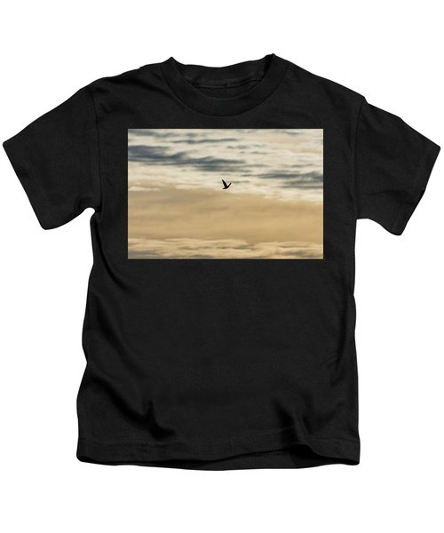 Dove In The Clouds Kids T-Shirt