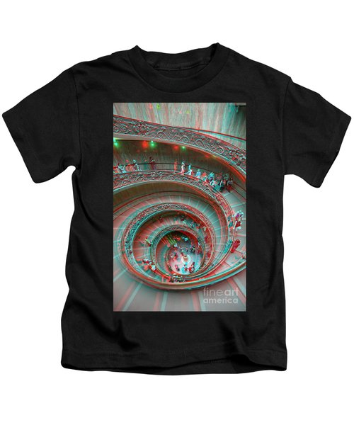 Down Stairs Anaglyph 3d Kids T-Shirt